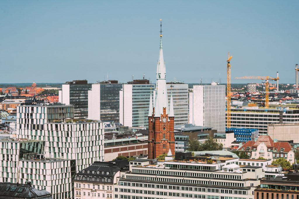 stockholm sweden elevated view of st clara or sain T9RLSTG 1024x683 1